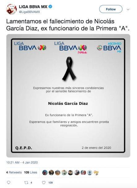 Ascenso MX: Muere ex directivo Nicolás García Díaz