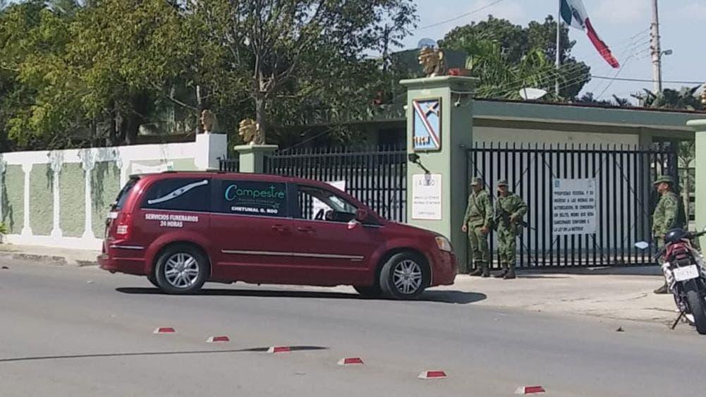Dan último adiós a militar asesinado en Bacalar