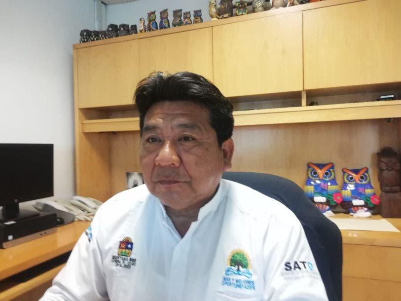 Germán Pool Che, recaudador de rentas en Lázaro Cárdenas.