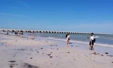 Se aleja el mar 50 metros de las costas yucatecas.