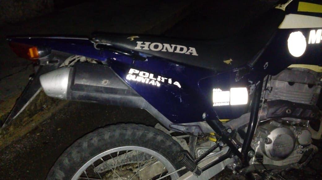 Motopatrullero evade su responsabilidad en un accidente.