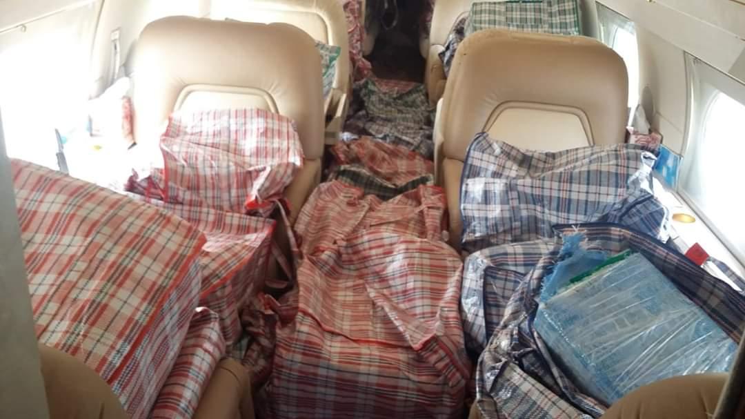 Valuada en 224 mdp la droga asegurada en narcojet en Mahahual; la nave fue interceptada por el sistema de vigilancia aérea de la Sedena.