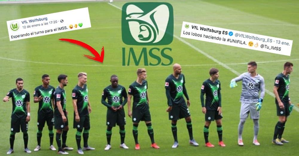 El Wolfsburg se burló de las 'colas' en el IMSS y éste los puso en 'ridículo'