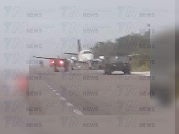 Aterriza una narcoavioneta en la Vía Corta a Mérida.