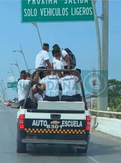 Exponen la vida de cadetes de la Policía en Playa del Carmen