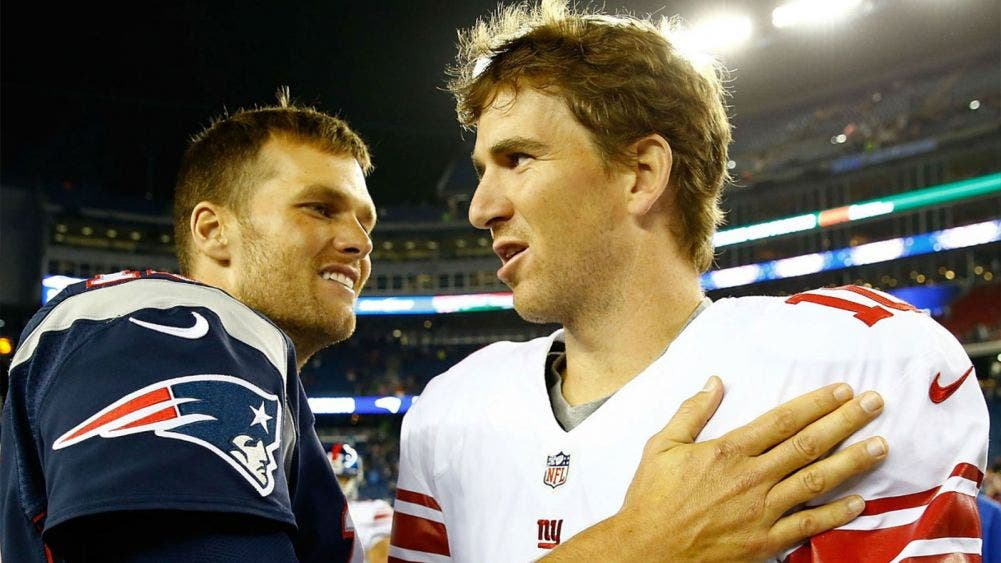 Tom Brady a Eli Manning