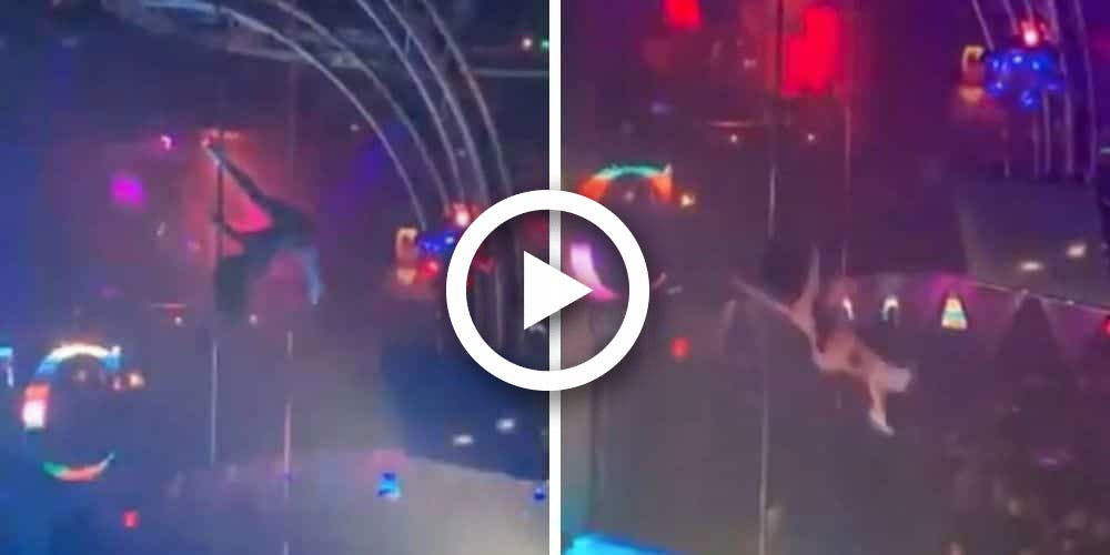 Stripper cae de un tubo de 5 metros