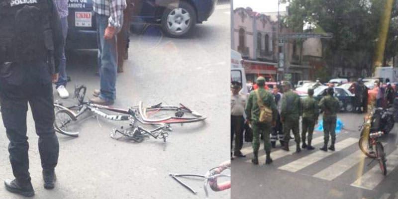Muestran video de muerte de ciclista; autoridades se contradicen