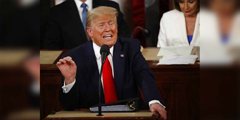 Trump afirma que construyeron un muro muy alto en la frontera