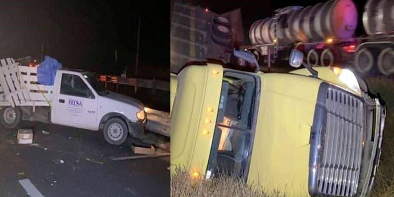 Hallan un 'entambado' tras choque de camioneta
