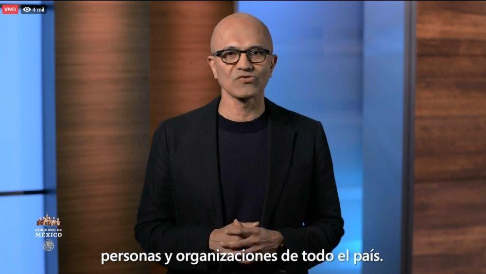 César Cernuda Rego, presidente de Microsoft Latinoamérica, anunció el Plan Innovar por México.