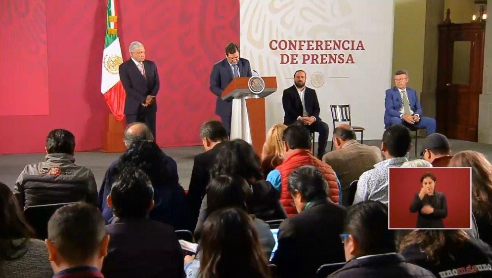 Conferencia del presidente Andrés Manuel López Obrador y los directivos de Microsoft en México.