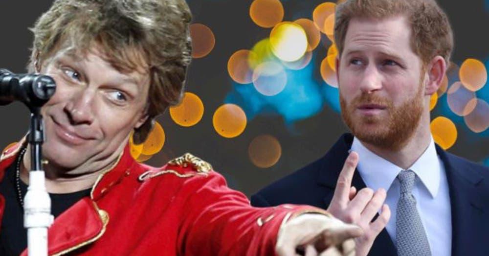 Tras salirse de la realeza, el Príncipe Harry debutará junto a Bon Jovi