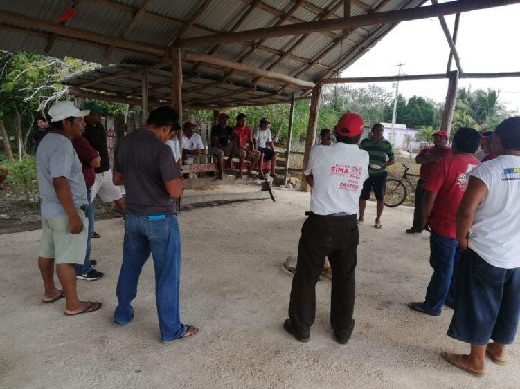 Inician preparativos para la fiesta a San Isidro en Kantunilkín.