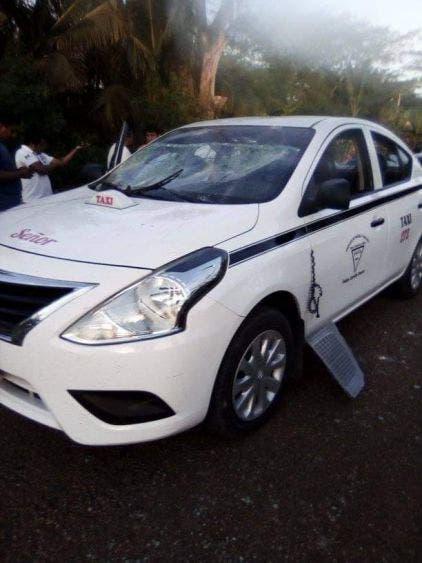 Intentan asaltar a taxista de la zona rural de Felipe Carrillo Puerto; fue atacado en el cruce de Tixcacal Guardia y Señor.