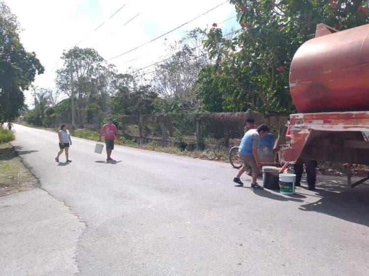 Afectación de equipos de bombeo causan desabasto de agua en la Zona Maya; se verán afectadas unas 7 mil personas en FCP.