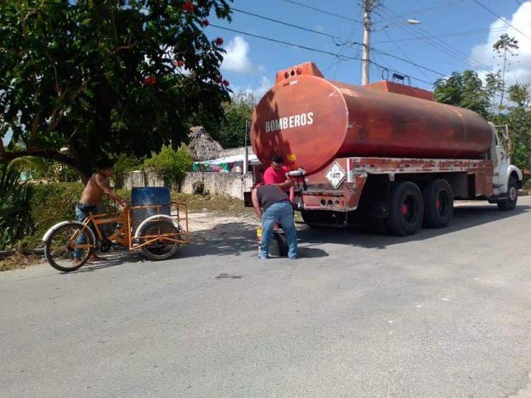 Afectación de equipos de bombeo causan desabasto de agua en la Zona Maya.