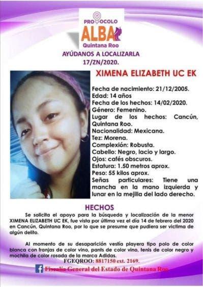 Angustia de una familia de Cancún por la desaparición de una menor.