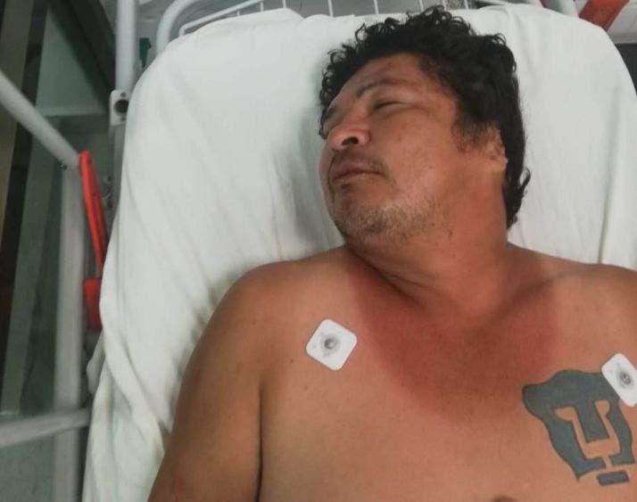 Buscan a familiares de sujeto internado en el Hospital General de Cancún; con seña particular tiene un tatuaje del equipo Pumas.