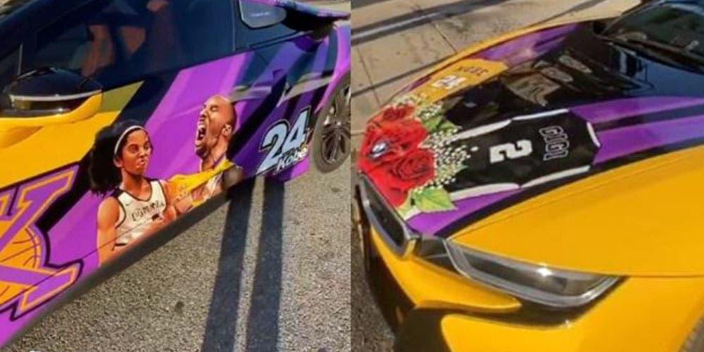 Auto de lujo es rentado con la imagen de Kobe Bryant y su hija