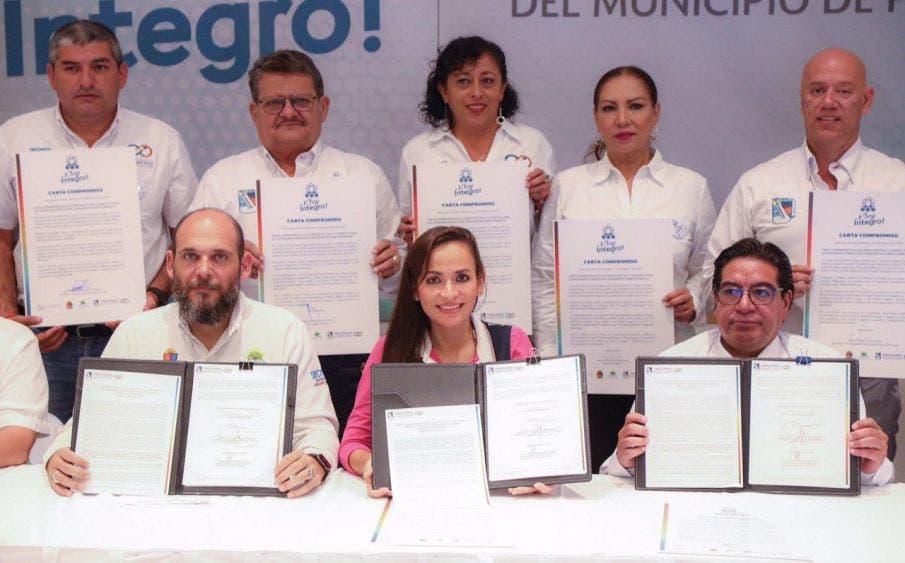 La alcaldesa de Puerto Morelos indica que la probidad en el ejercicio de la función pública tiene un valor preponderante en su administración