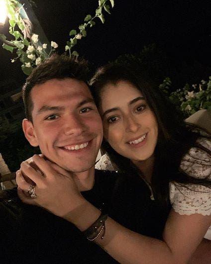 Hirving Lozano y Ana Obregón.