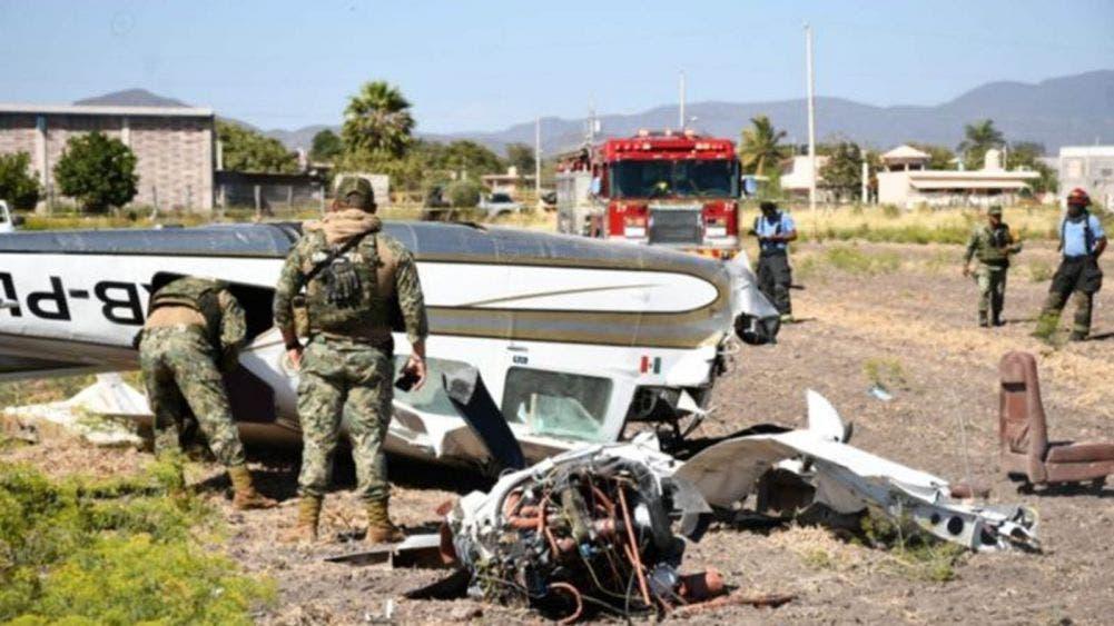 Se desploma avioneta en Culiacán; cuatro lesionados