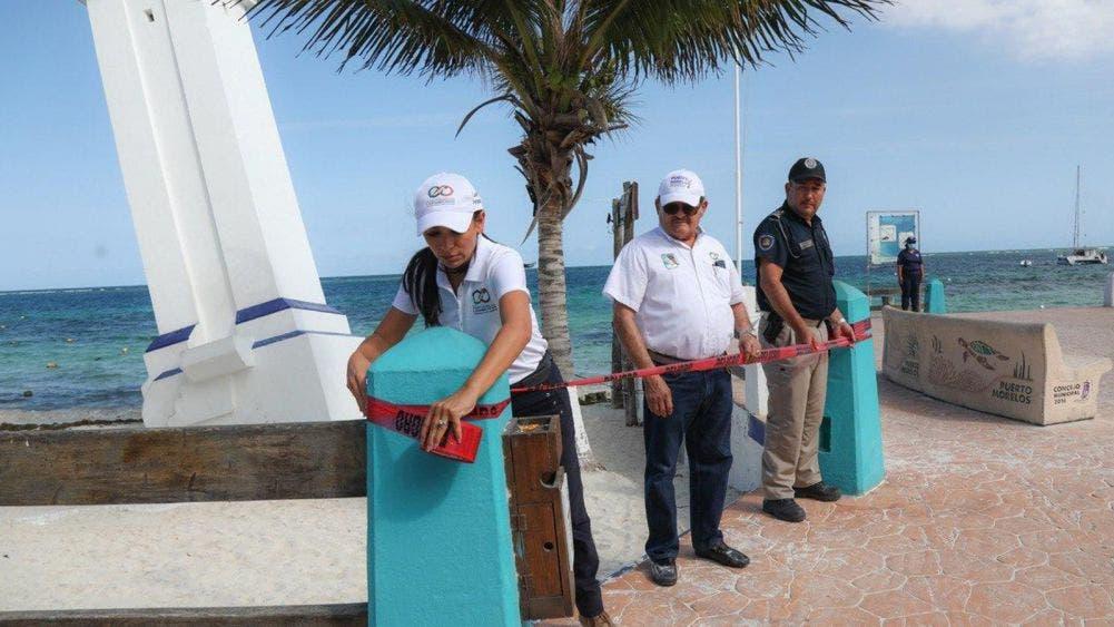 Supervisa Laura Fernández cierre de playas por emergencia sanitaria por covid-19