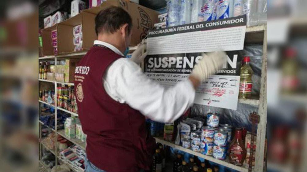 Imponen sellos de suspensión temporal a establecimientos comerciales