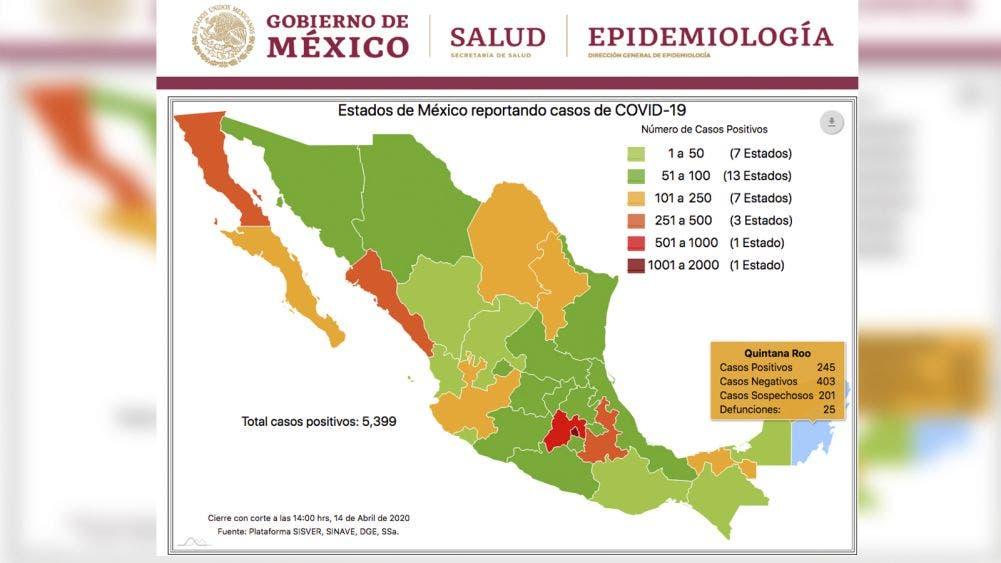 Siguen en aumento muertes por Coronavirus en Quintana Roo, ya van 25