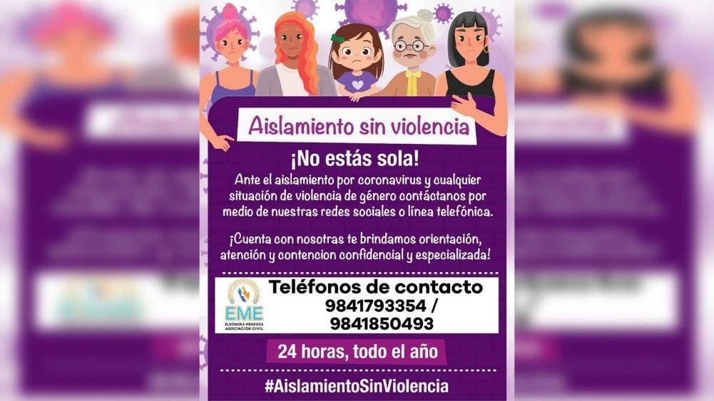 Cuarentena incrementa índices de violencia doméstica