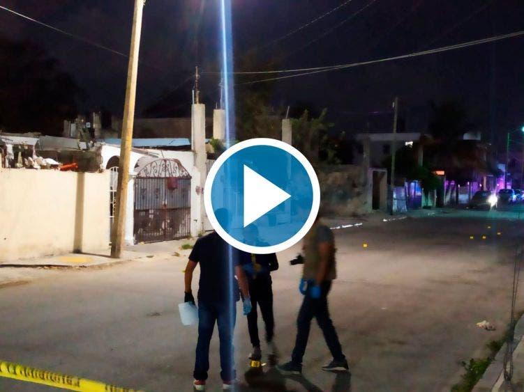 Video: Captan a sujetos disparando en colonia 10 de abril de Cozumel.