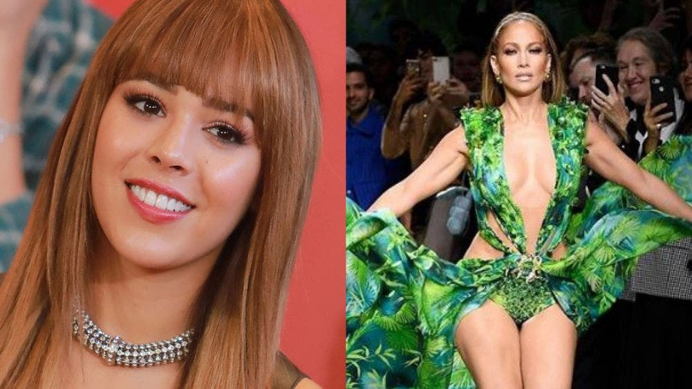 Danna Paola recrea el icónico look selvático de Jennifer Lopez