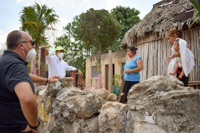 Encabeza Víctor Mas Tah jornada de ayuda alimentaria en Zona Maya, que beneficio a todas las comunidades de la región de Chanchen Palmar
