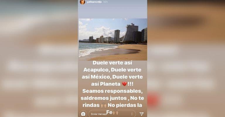 Galilea Montijo ignora la cuarentena y sale de viaje a Acapulco