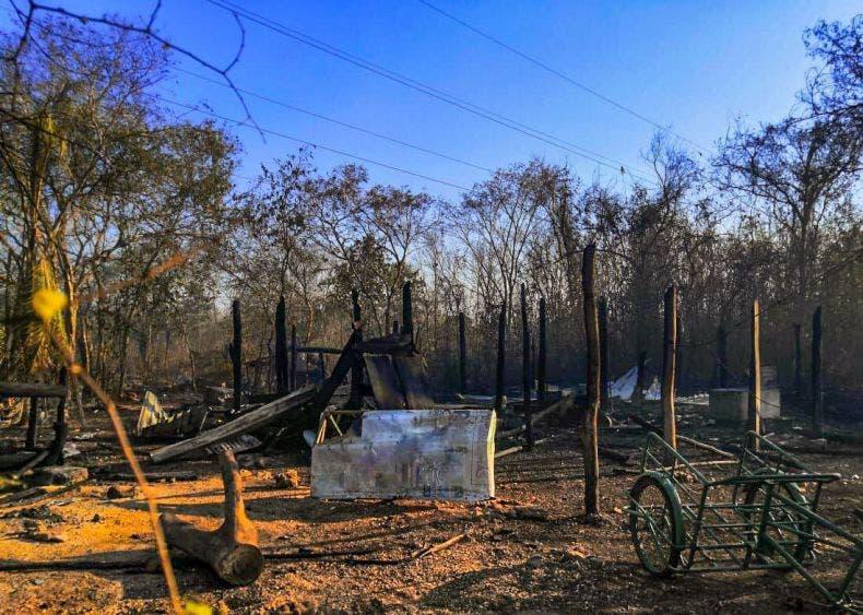 """La conflagración en el área conocida como """"El Tabasqueño"""" afectó cerca de 15 hectáreas de selva baja"""