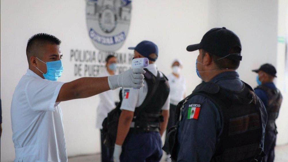 Constata Laura Fernández protocolos de sanidad en la Secretaría de Seguridad Pública de Puerto Morelos