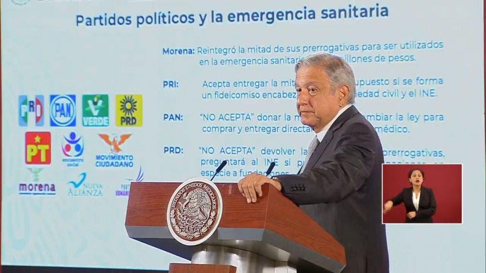Rechazan PRI, PAN y PRD reintegrar la mitad de su presupuesto
