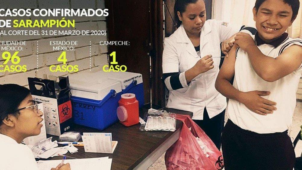 Alarman los casos de sarampión, ya van 122