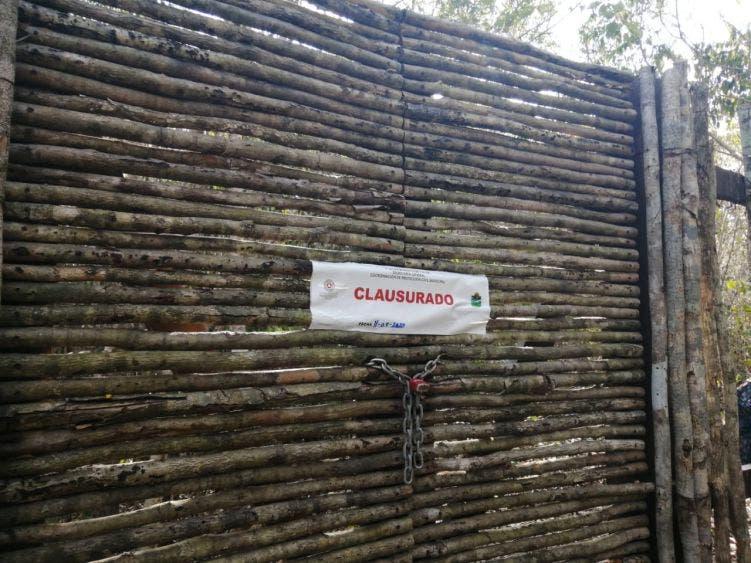 El lugar fue clausuaron por las autoridades de Protección Civil de Tulum.