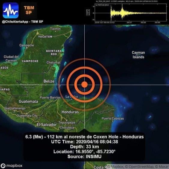 Se percibe en Quintana Roo sismo de 6.3 con epicentro en Honduras.