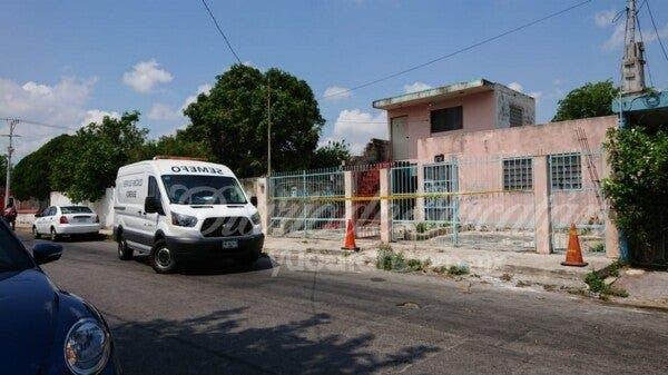 El señor fue hallado sin vida por sus vecinos.- Foto: Diario de Yucatán.