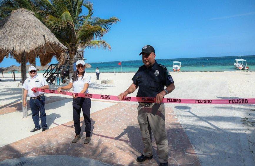 La alcaldesa gira instrucciones a la Secretaría municipal de Seguridad Pública y Tránsito para vigilar que se cumpla la restricción del paso a la franja costera