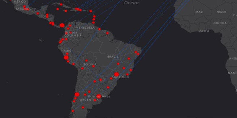 Latinoamérica registra más de 20 mil casos de coronavirus