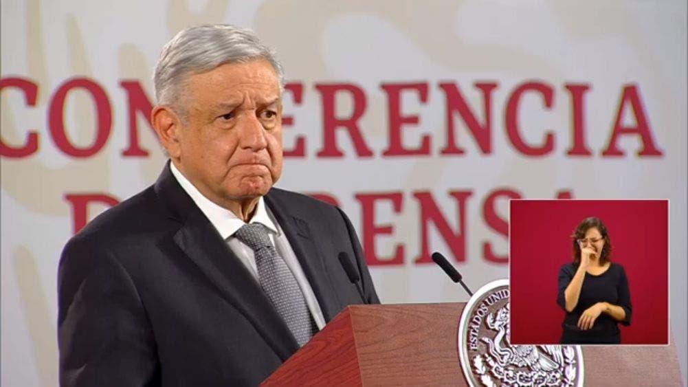 El Presidente de México, Andrés Manuel López Obrador durante la mañanera de hoy.
