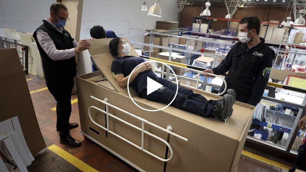 Crea empresa ingeniosa cama de hospital y ataúd en uno