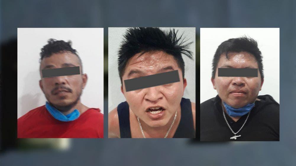 Detiene la Policía a tres presuntos sicarios tras atentado en la colonia Tumben Káh