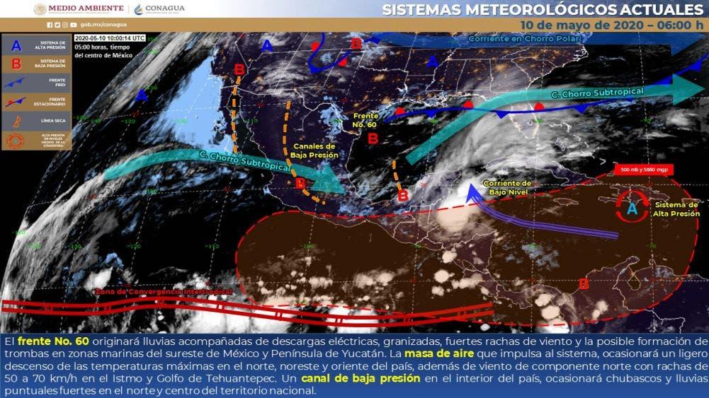 Clima para hoy domingo 10 de mayo del 2020 en Quintana Roo.