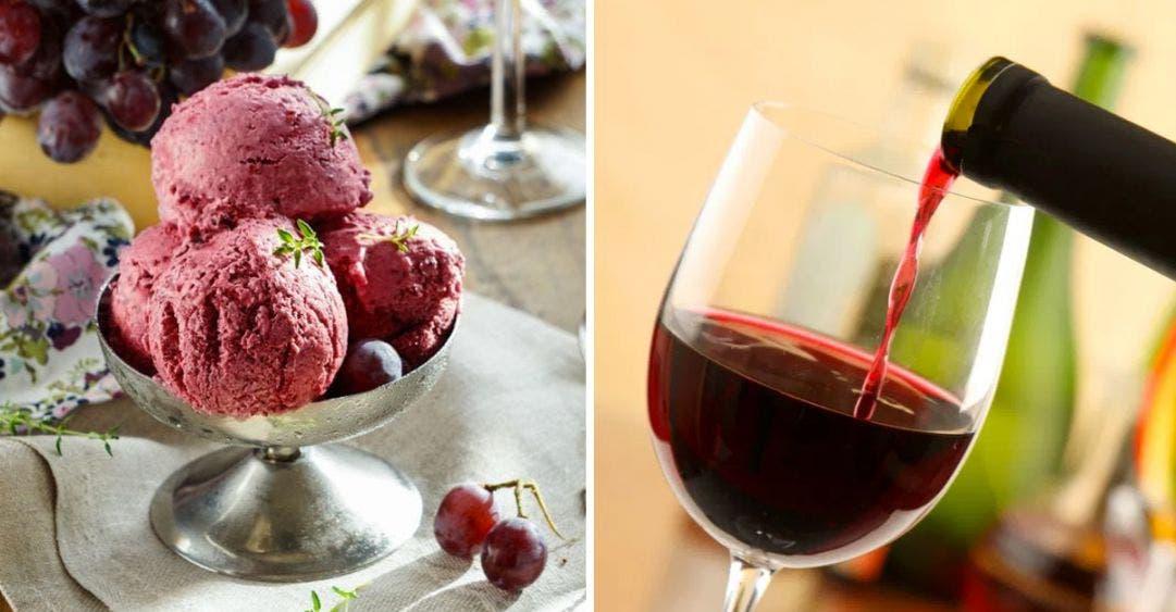 Consiente a tu familia con un rico helado de vino tinto