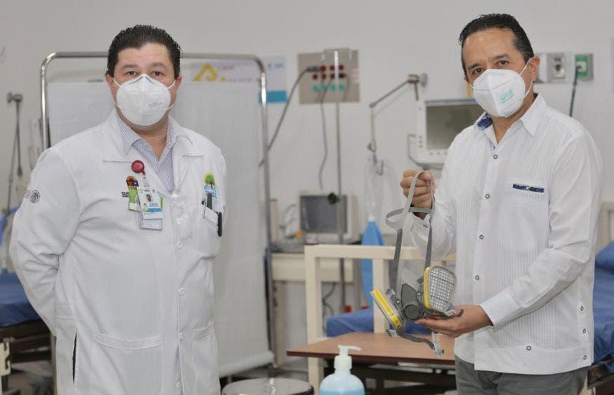 El gobernador de Quintana Roo recorrió el área de hospitalización con 24 camas para pacientes no relacionados con Covid19